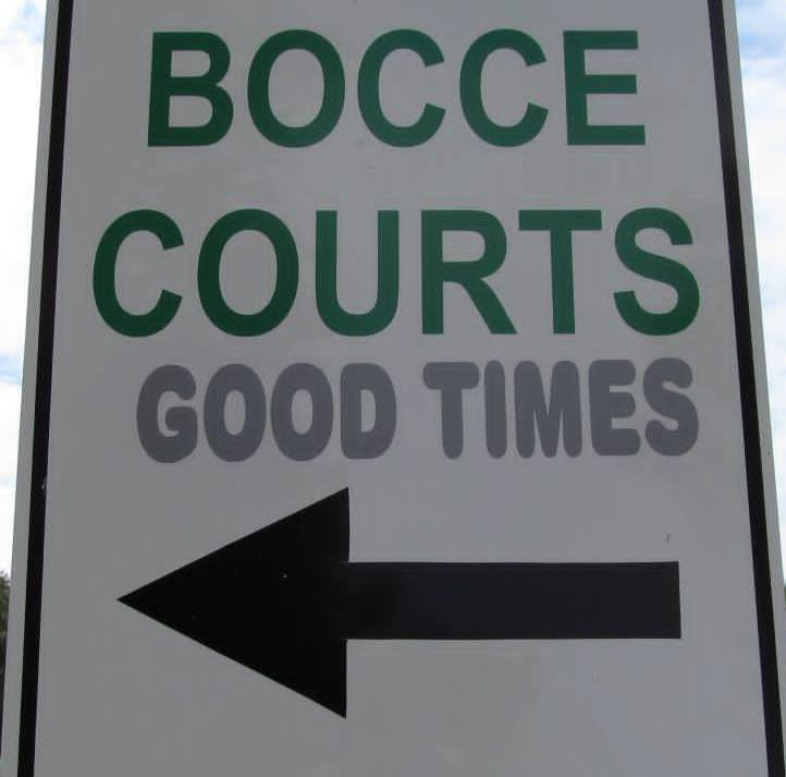 Bocce Sign